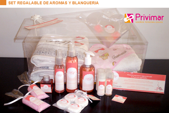 Set regalable de aromas y blanquería