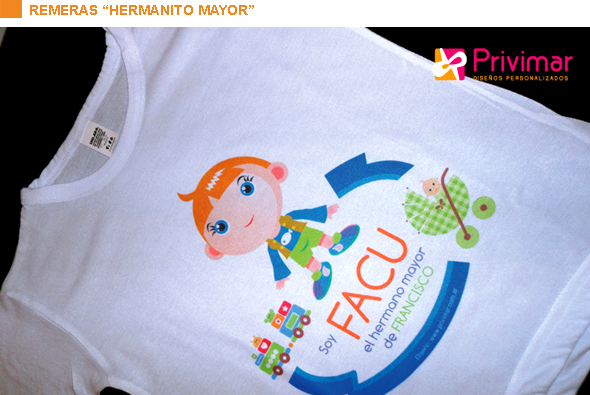 "Remeras ""hermanito mayor"""